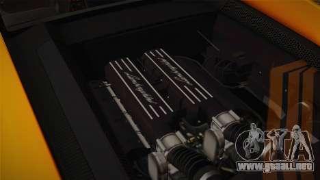 Lamborghini Gallardo Superleggera para vista inferior GTA San Andreas