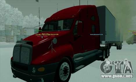 Kenworth T2000 v2.9 para la visión correcta GTA San Andreas