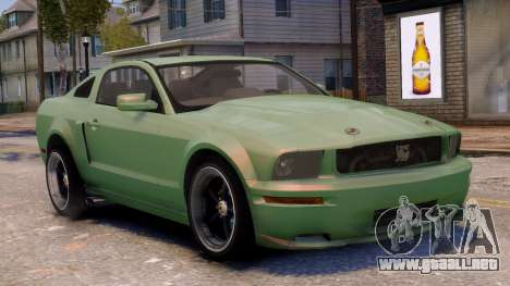 Shelby Terlingua Mustang para GTA 4 vista lateral
