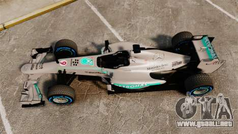 Mercedes AMG F1 W04 v2 para GTA 4 visión correcta