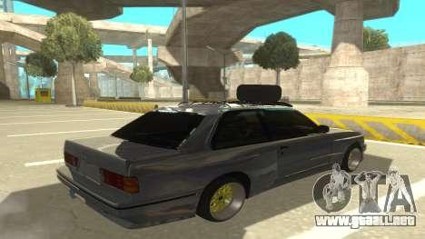 BMW E30 1991 para la visión correcta GTA San Andreas