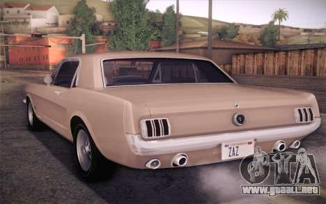 Ford Mustang GT 289 Hardtop Coupe 1965 para GTA San Andreas left