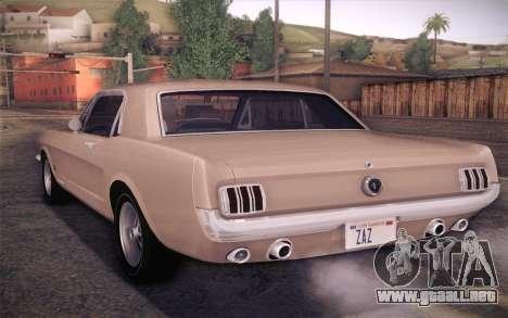 Ford Mustang GT 289 Hardtop Coupe 1965 para GTA San Andreas left