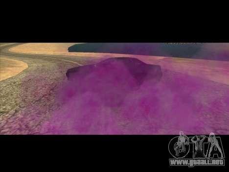 El nuevo color de humo por debajo de las ruedas para GTA San Andreas segunda pantalla