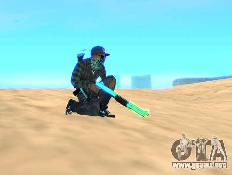 Rifa Gun Pack para GTA San Andreas segunda pantalla