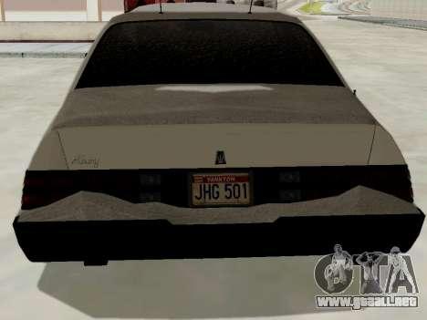 Norte Yanton policía Esperanto de GTA 5 para GTA San Andreas vista posterior izquierda