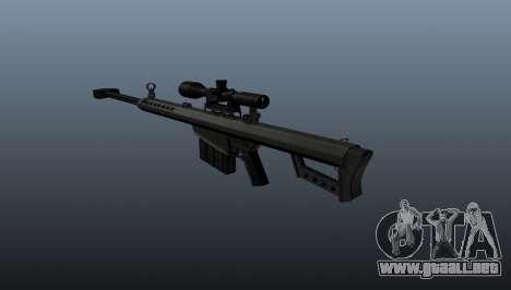 50 sniper rifle calibre para GTA 4 segundos de pantalla