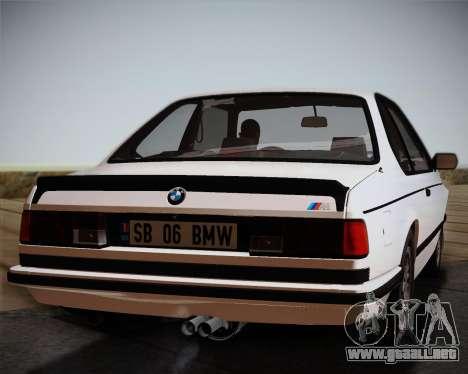 BMW E24 M635 1984 para GTA San Andreas vista hacia atrás