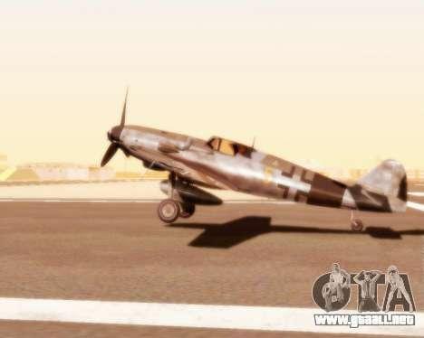 Bf-109 G10 para la visión correcta GTA San Andreas