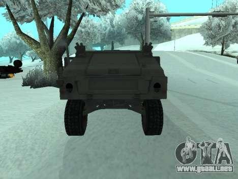 Hummer H1 del juego Resident Evil 5 para GTA San Andreas vista hacia atrás