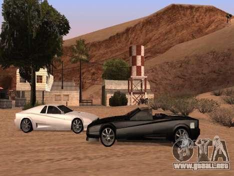 Sheetah Restyle para visión interna GTA San Andreas