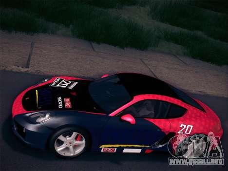 Porsche Cayman S 2014 para vista inferior GTA San Andreas