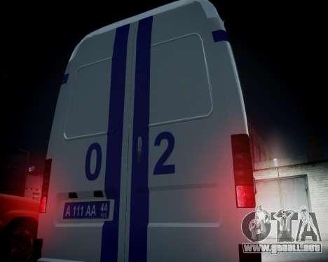 Policía gacela 2705 para GTA 4 vista lateral