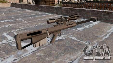 Rifle de francotirador Barrett M95 para GTA 4 segundos de pantalla