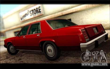 Ford LTD Crown Victoria 1987 para la visión correcta GTA San Andreas