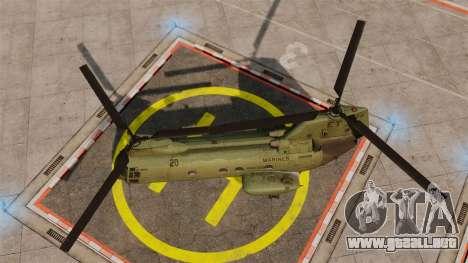 Boeing CH-46D Sea Knight para GTA 4 visión correcta