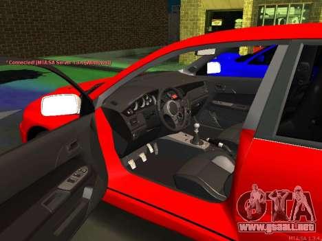 Mitsubishi Lancer Evo VIII para GTA San Andreas left