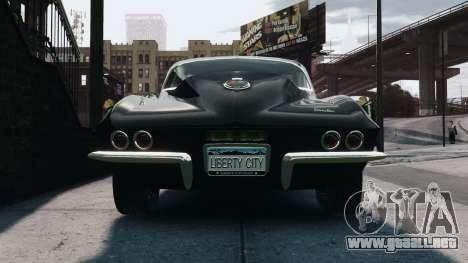 Chevrolet Corvette Stingray 427 1967 para GTA 4 visión correcta