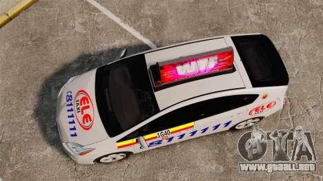Toyota Prius 2011 Warsaw Taxi v3 para GTA 4 visión correcta