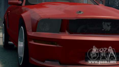Shelby Terlingua Mustang para GTA 4 vista hacia atrás