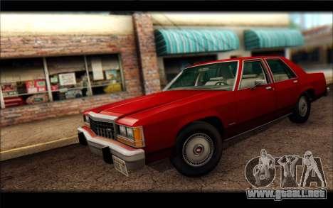 Ford LTD Crown Victoria 1987 para GTA San Andreas vista posterior izquierda