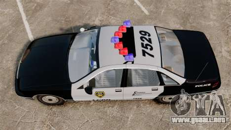 Chevrolet Caprice Police 1991 v2.0 LCPD para GTA 4 visión correcta