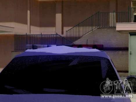 Norte Yanton policía Esperanto de GTA 5 para GTA San Andreas vista hacia atrás