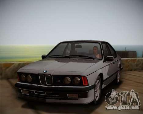 BMW E24 M635 1984 para la visión correcta GTA San Andreas