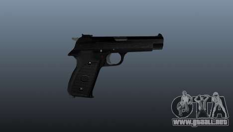 Pistola semiautomática SIG P210 para GTA 4 tercera pantalla