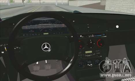 Mercedes-Benz 190E Evolution Police para GTA San Andreas vista hacia atrás