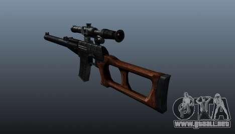 Rifle de francotirador VSS Vintorez para GTA 4 segundos de pantalla