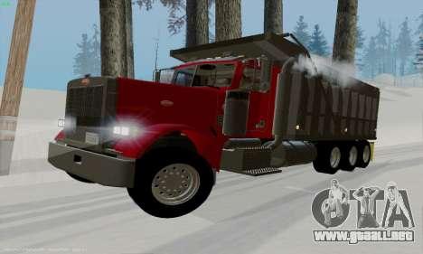 Peterbilt 379 Dump Truck para GTA San Andreas left