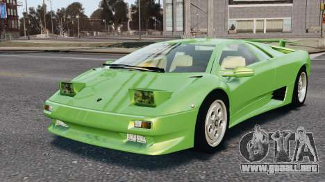 Lamborghini Diablo VT 1994 para GTA 4 vista desde abajo
