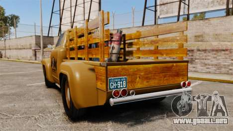 Hot Rod Truck Gas Monkey para GTA 4 Vista posterior izquierda