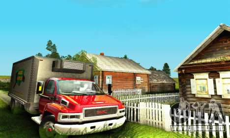 GMC Top Kick C4500 Dryvan House Movers 2008 para la visión correcta GTA San Andreas