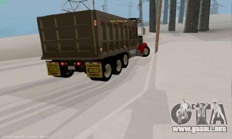 Peterbilt 379 Dump Truck para la visión correcta GTA San Andreas
