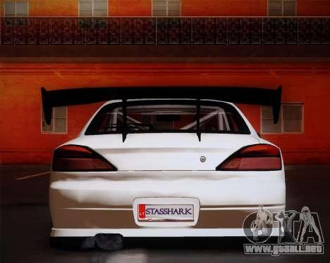 Nissan Silvia S15 JDM para GTA San Andreas vista hacia atrás