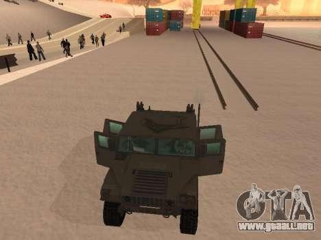 Hummer H1 del juego Resident Evil 5 para vista lateral GTA San Andreas