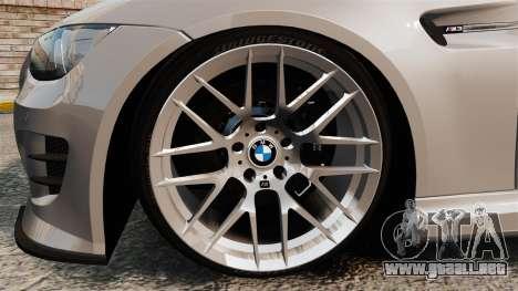 BMW M3 E92 GTS 2010 para GTA 4 vista hacia atrás