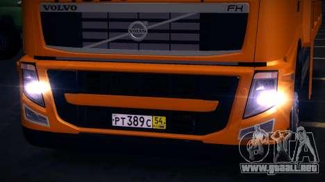 Volvo FH12 grúa para GTA San Andreas left