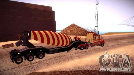 Cement Mixer para GTA San Andreas vista posterior izquierda