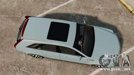 Cadillac CTS SW 2010 para GTA 4 visión correcta