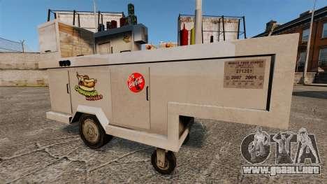 Nuevas texturas de carros de perros calientes para GTA 4 adelante de pantalla