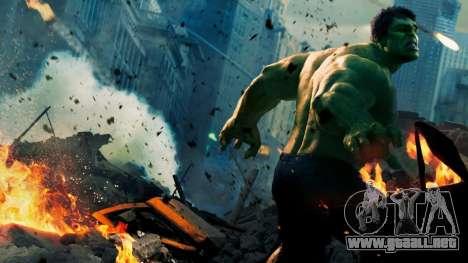 Pantalla de arranque de Vengadores para GTA 4 adelante de pantalla
