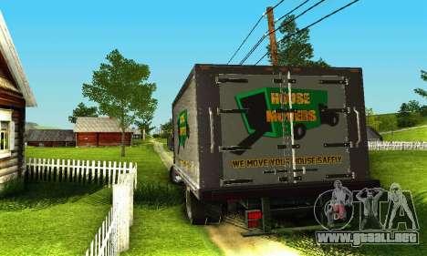 GMC Top Kick C4500 Dryvan House Movers 2008 para vista lateral GTA San Andreas