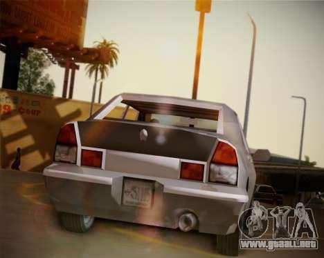 GTA III Kuruma para GTA San Andreas vista hacia atrás
