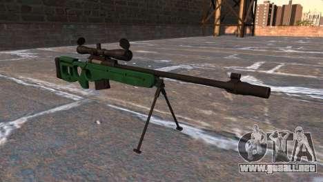 Rifle de francotirador SV-98 para GTA 4