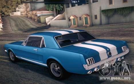 Ford Mustang GT 289 Hardtop Coupe 1965 para el motor de GTA San Andreas