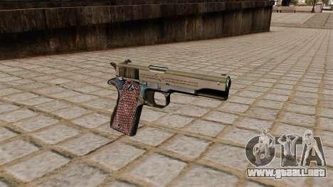 Pistola Colt M1911A1 para GTA 4