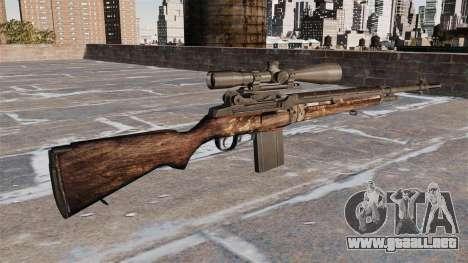 Rifle de francotirador M21 para GTA 4 segundos de pantalla